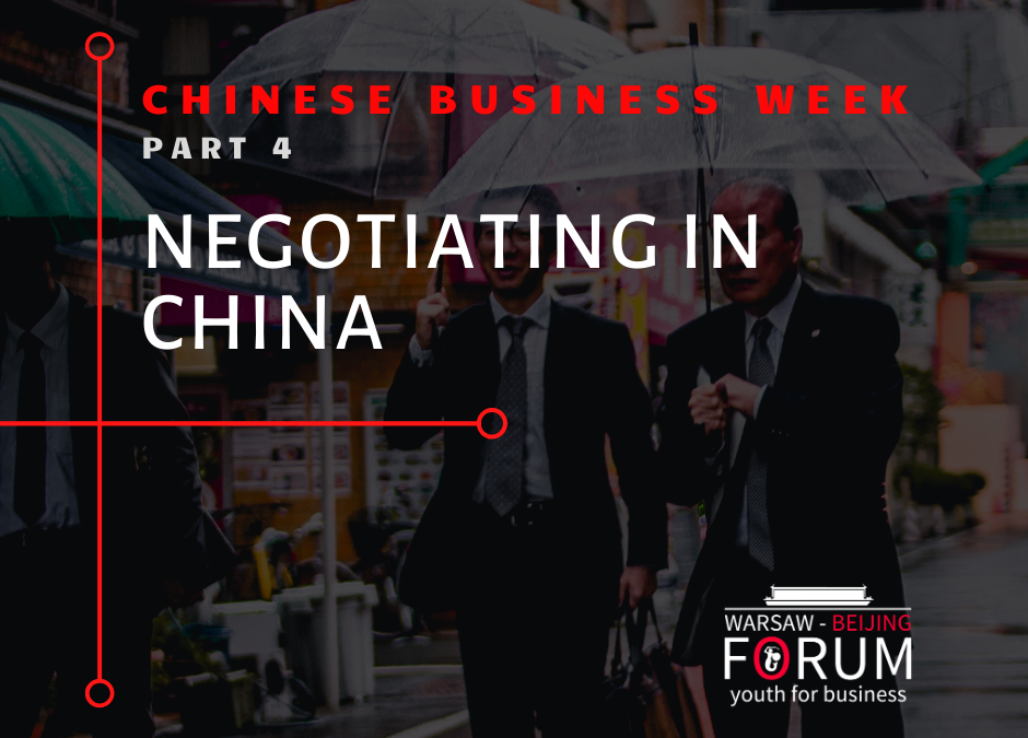 The Chinese style of negotiation